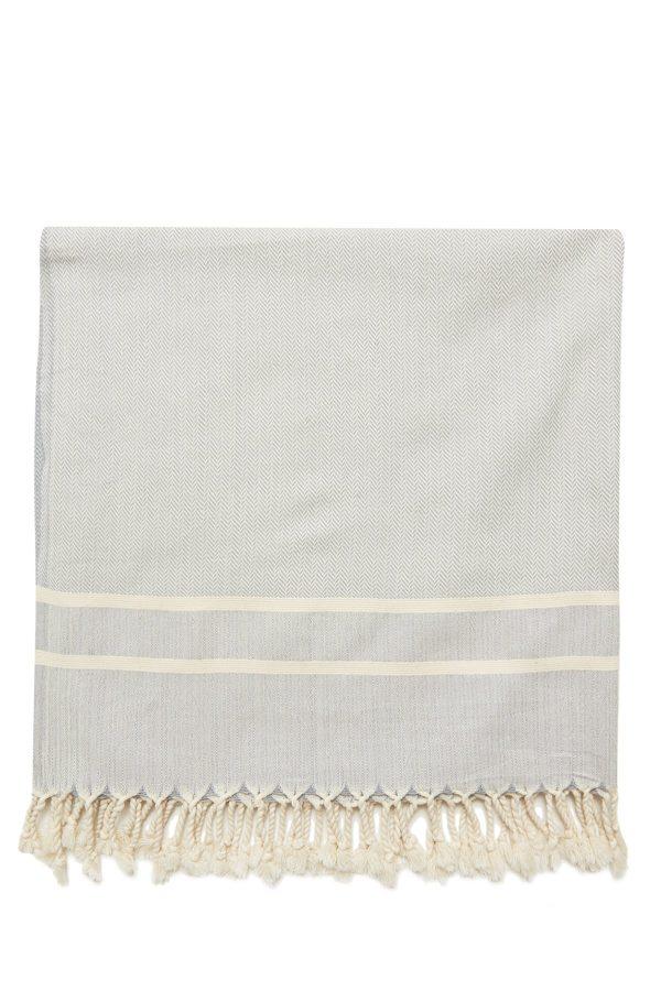 Ibiza Turkish Towel - Drizzle, 100% Organic Cotton, Handmade, Bath Towel, Peshtemal, Sauna Towel, Beach Towel
