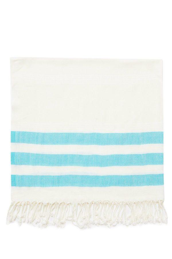 Dubai Turkish Towel - Turquoise, Handmade, Bath Towel, Peshtemal, Sauna Towel, Beach Towel