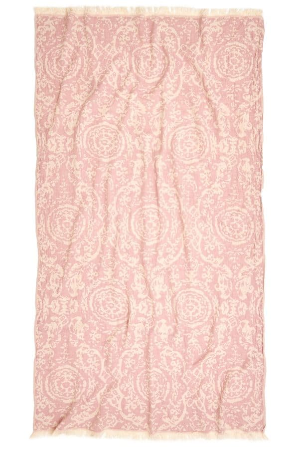 San Diego Turkish Towel - Pink, 100% Organic Cotton, Handmade, Bath Towel, Peshtemal, Sauna Towel, Beach Towel