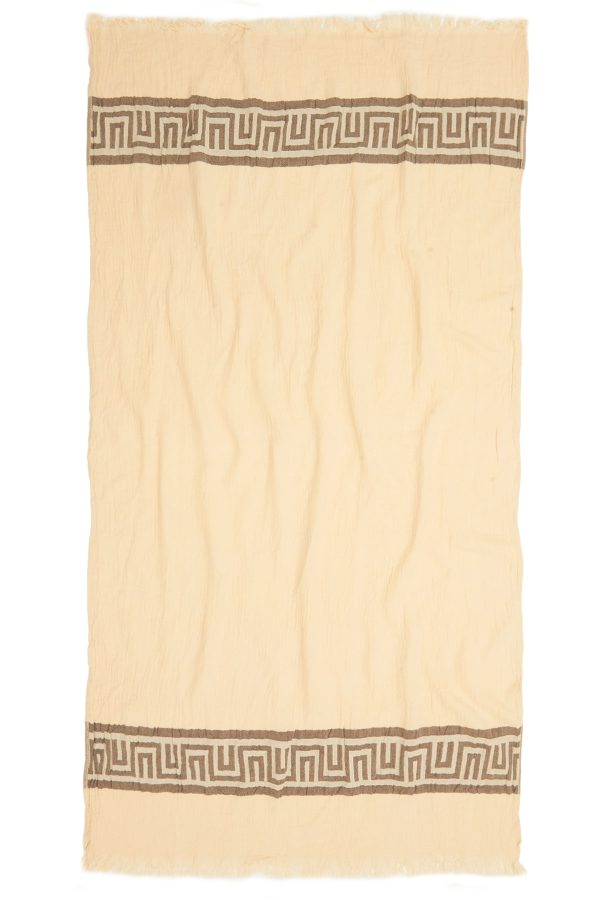 Ancient Turkish Towel - Brown, 100% Organic Cotton, Handmade, Bath Towel, Peshtemal, Sauna Towel, Beach Towel