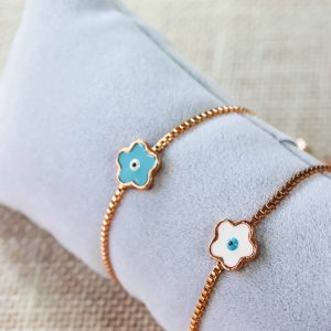 Adjustable Evil Eye Clover Bracelets