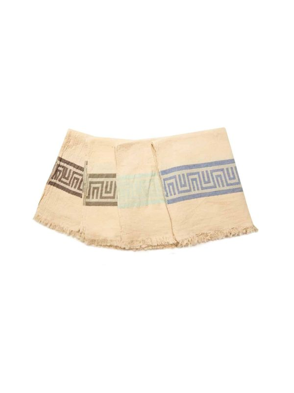 Ancient Greek Turkish Towel - Light Blue, 100% Organic Cotton, Handmade, Bath Towel, Peshtemal, Sauna Towel, Beach Towel