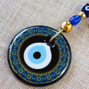 Blue Colour Painted Evil Eye Design