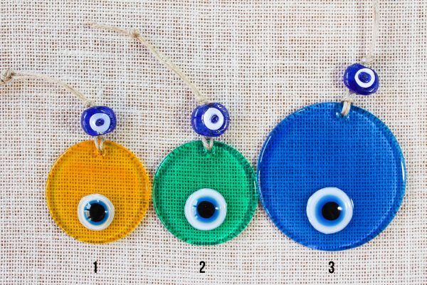 Colored Glass Evil Eyes