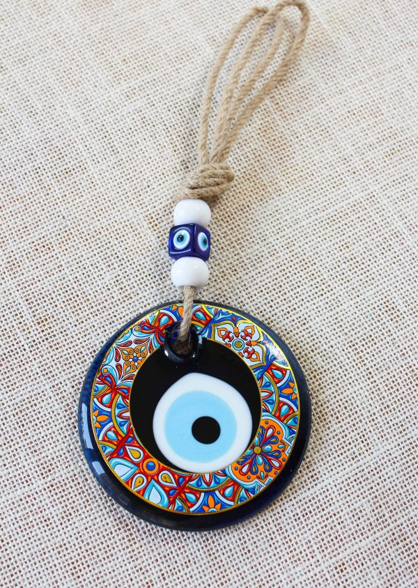 Colorful Painted Evil Eye Home Decor