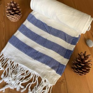 Dubai Turkish Towel - Blue, Handmade, Bath Towel, Peshtemal, Sauna Towel, Beach Towel