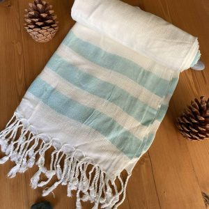 Dubai Turkish Towel - Tiffany, Handmade, Bath Towel, Peshtemal, Sauna Towel, Beach Towel