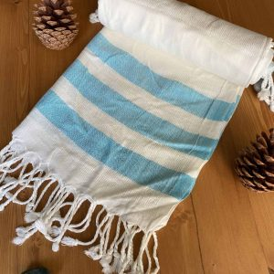 Dubai Turkish Towel - Turquoise, Handmade, Bath Towel, Peshtemal, Sauna Towel, Beach Towel
