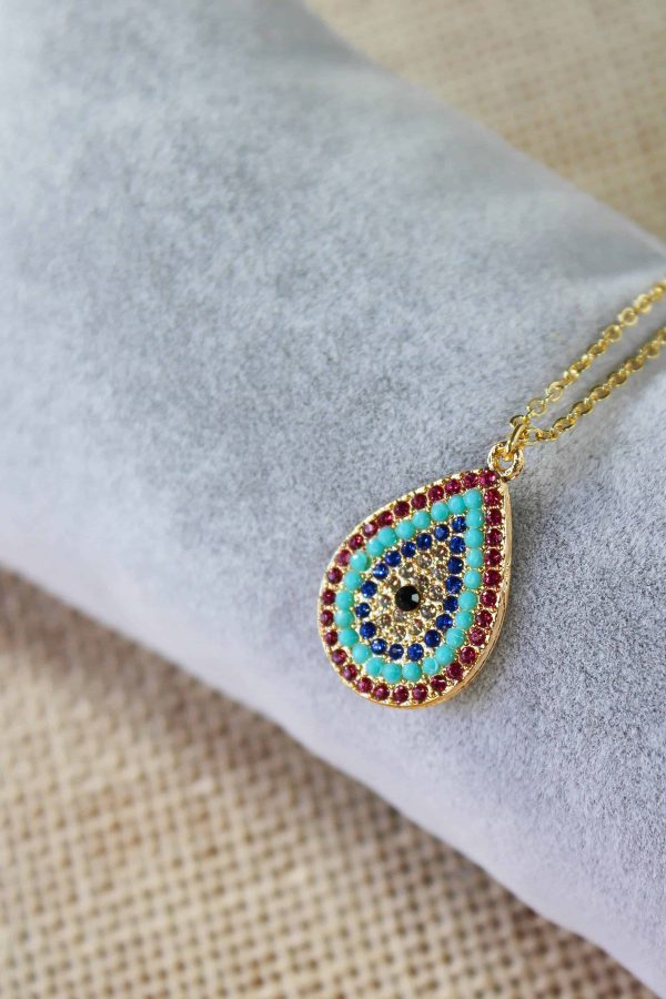 Evil Eye Water Drop Necklace