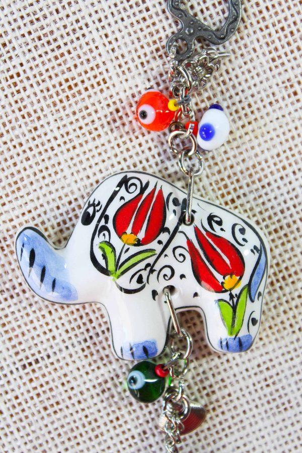 Evil Eye with Turkish Ceramic Elephant