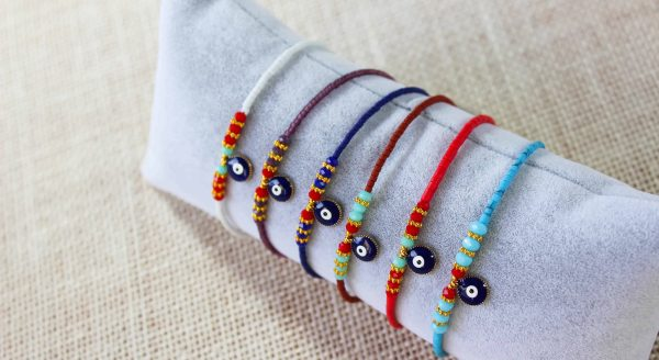 Fashion Colorful Evil Eye Bead Bracelets