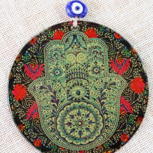 Fusion Art Glass Ornament Hamsa Hand 16cm