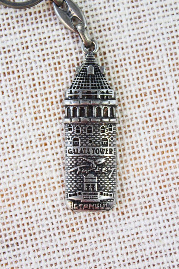 Galata Tower Metal Keychain