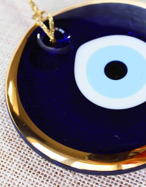 Gold Trim Traditional Evil Eye