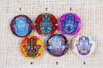 Hamsa Hand Fusion Art Glass Magnets