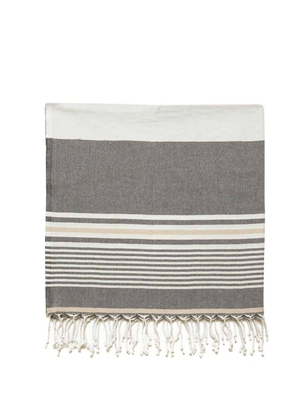 Hawaii Turkish Towel - Chocolate, 100% Organic Cotton, Handmade, Bath Towel, Peshtemal, Sauna Towel, Beach Towel