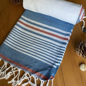 Hawaii Turkish Towel - Red, 100% Organic Cotton, Handmade, Bath Towel, Peshtemal, Sauna Towel, Beach Towel