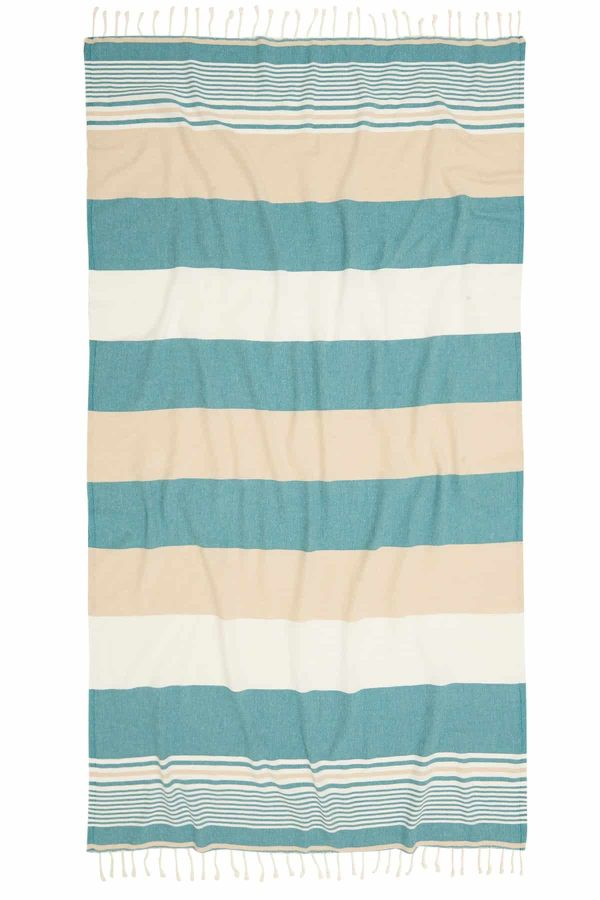 Hawaii Turkish Towel - Turquoise, 100% Organic Cotton, Handmade, Bath Towel, Peshtemal, Sauna Towel, Beach Towel