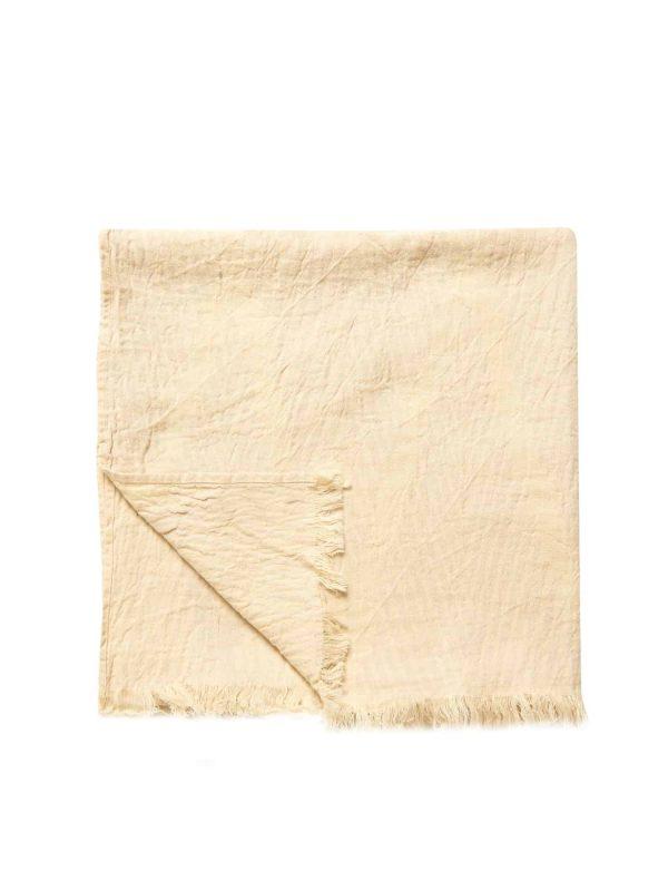 Helsinki Turkish Towel - Bisque, 100% Organic Cotton, Handmade, Bath Towel, Peshtemal, Sauna Towel, Beach Towel