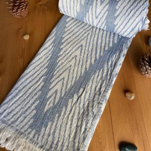 Helsinki Turkish Towel - Dutch Blue, 100% Organic Cotton, Handmade, Bath Towel, Peshtemal, Sauna Towel, Beach Towel
