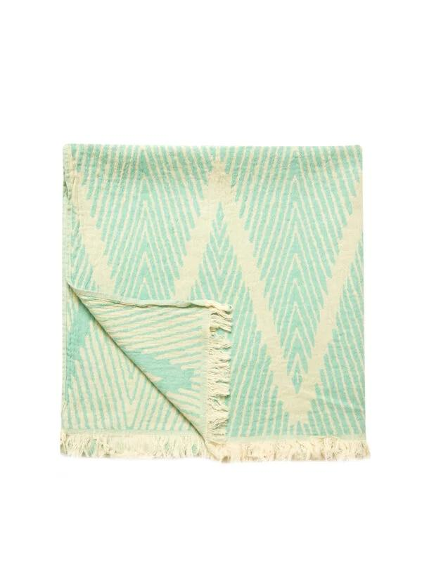 Helsinki Turkish Towel - Ocean, 100% Organic Cotton, Handmade, Bath Towel, Peshtemal, Sauna Towel, Beach Towel
