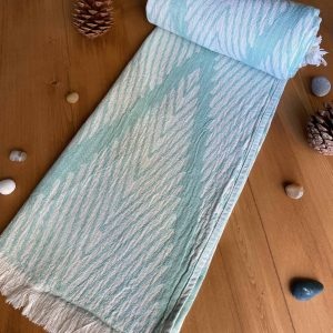Helsinki Turkish Towel - Ocean, 100% Organic Cotton, Handmade, Bath Towel, Peshtemal, Sauna Towel, Beach Towel