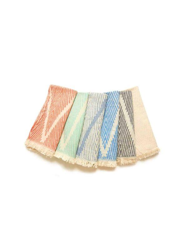 Helsinki Turkish Towel - Orange, 100% Organic Cotton, Handmade, Bath Towel, Peshtemal, Sauna Towel, Beach Towel