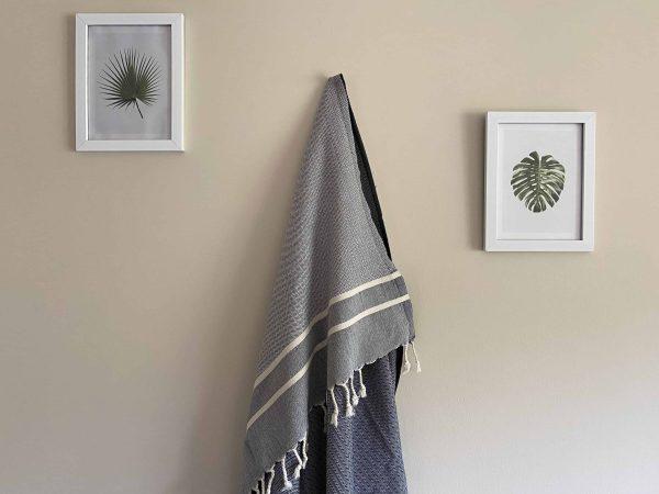 Ibiza Turkish Towel - Blue, 100% Organic Cotton, Handmade, Bath Towel, Peshtemal, Sauna Towel, Beach Towel