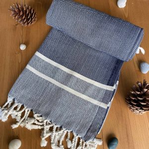 Ibiza Turkish Towel - Blue, 100% Organic Cotton, Handmade, Bath Towel, Peshtemal, Sauna Towel, Beach Towel