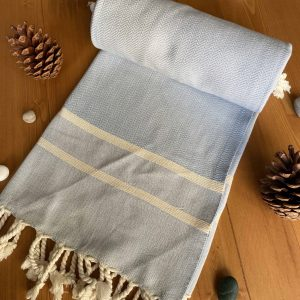 Ibiza Turkish Towel - Drizzle, 100% Organic Cotton, Handmade, Bath Towel, Peshtemal, Sauna Towel, Beach Towel