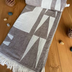 Monaco Turkish Towel - Brown, 100% Organic Cotton, Handmade, Bath Towel, Peshtemal, Sauna Towel, Beach Towel