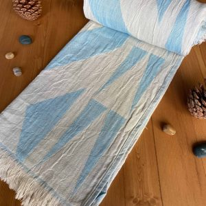 Monaco Turkish Towel - Ocean, 100% Organic Cotton, Handmade, Bath Towel, Peshtemal, Sauna Towel, Beach Towel