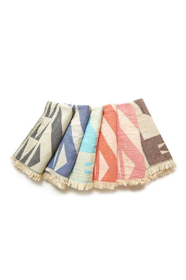 Monaco Turkish Towel - Orange, 100% Organic Cotton, Handmade, Bath Towel, Peshtemal, Sauna Towel, Beach Towel