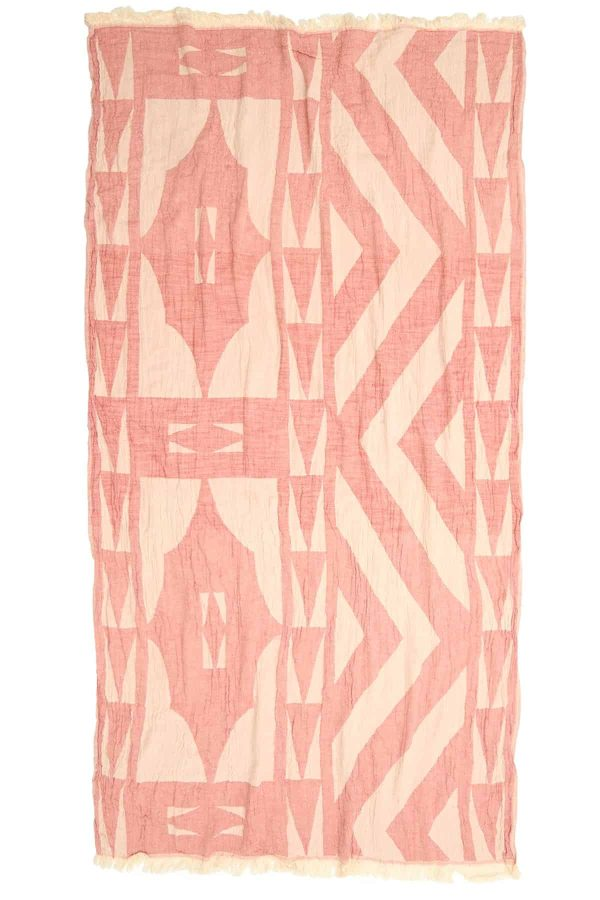 Monaco Turkish Towel - Pink, 100% Organic Cotton, Handmade, Bath Towel, Peshtemal, Sauna Towel, Beach Towel