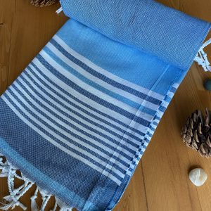 Hawaii Turkish Towel - Ocean, 100% Organic Cotton, Handmade, Bath Towel, Peshtemal, Sauna Towel, Beach Towel