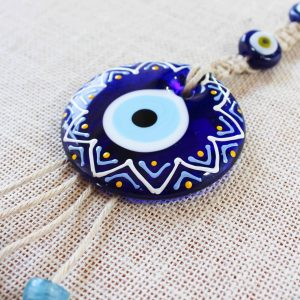 Painted Evil Eye Wall Decor