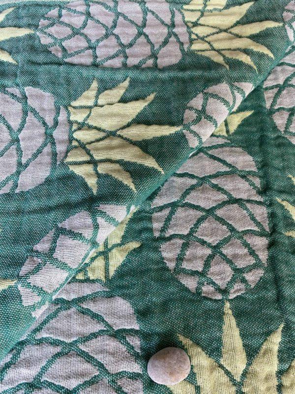 Pineapple Turkish Towel - Seafoam Green, 100% Organic Cotton, Handmade, Bath Towel, Peshtemal, Sauna Towel, Beach Towel