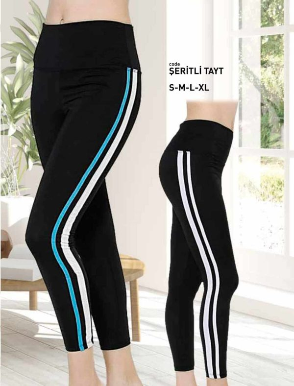 Premium Quality High Waist Side Stripe Legging