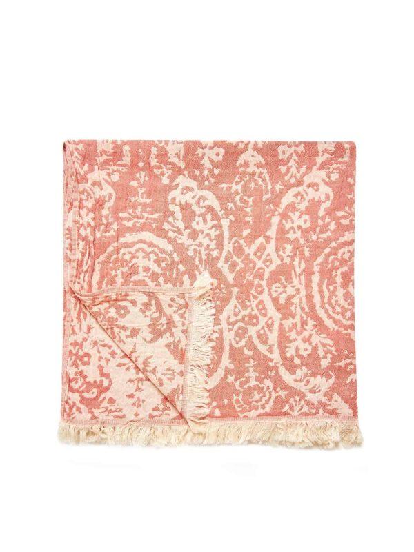 San Diego Turkish Towel - Orange, 100% Organic Cotton, Handmade, Bath Towel, Peshtemal, Sauna Towel, Beach Towel