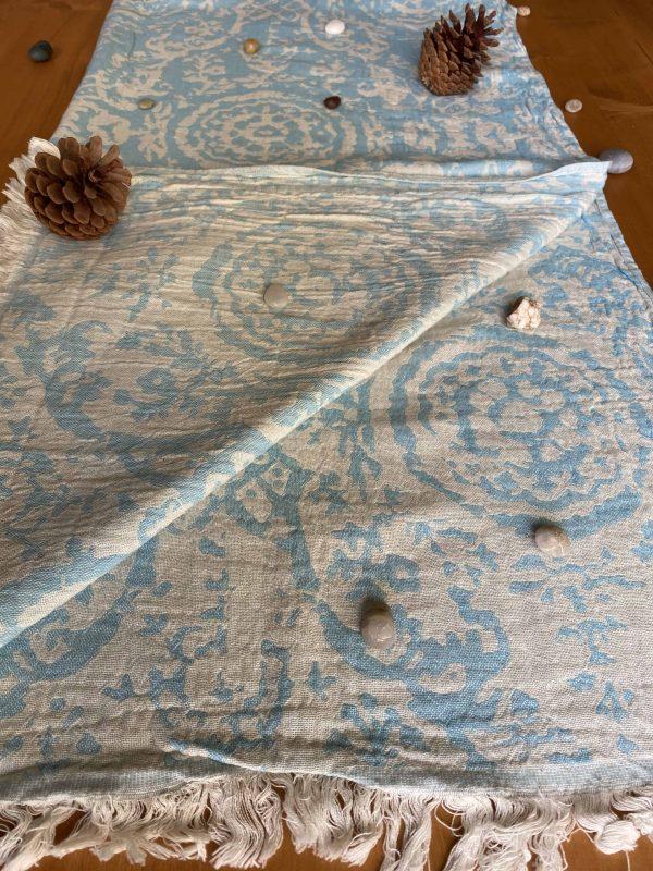 San Diego Turkish Towel - Turqoise, 100% Organic Cotton, Handmade, Bath Towel, Peshtemal, Sauna Towel, Beach Towel