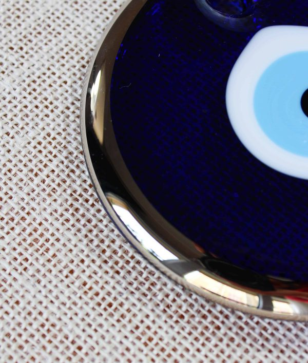 Silver Trim Traditional Evil Eye