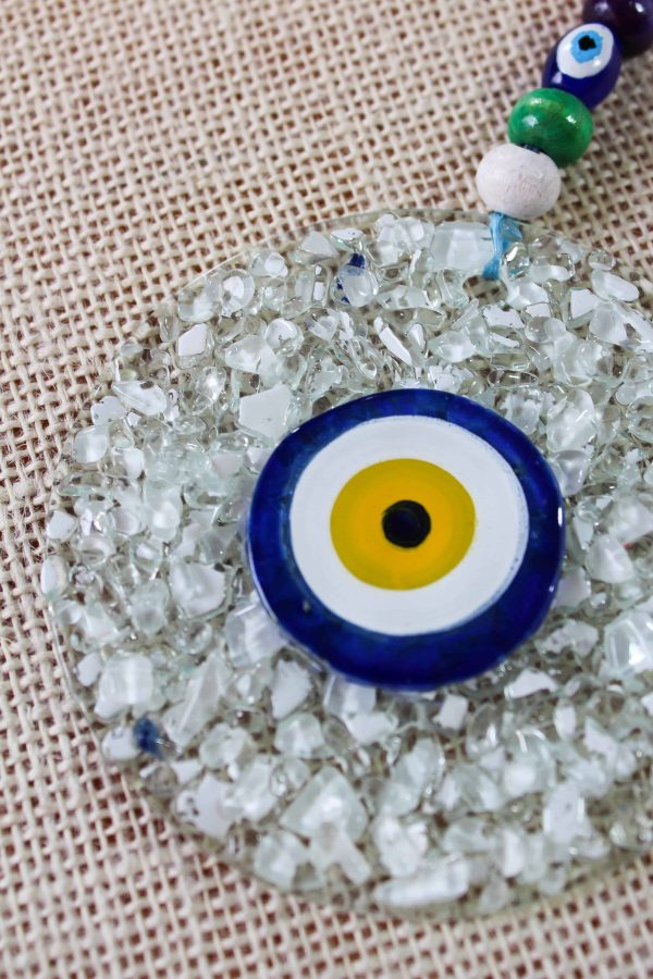 Special Design Glass Evil Eye Wall Ornament