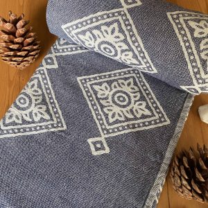 Sydney Turkish Towel - Blue, 100% Organic Cotton, Handmade, Bath Towel, Peshtemal, Sauna Towel, Beach Towel