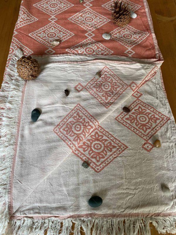 Sydney Turkish Towel - Orange, 100% Organic Cotton, Handmade, Bath Towel, Peshtemal, Sauna Towel, Beach Towel