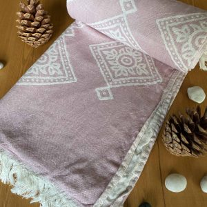 Sydney Turkish Towel - Pink, 100% Organic Cotton, Handmade, Bath Towel, Peshtemal, Sauna Towel, Beach Towel