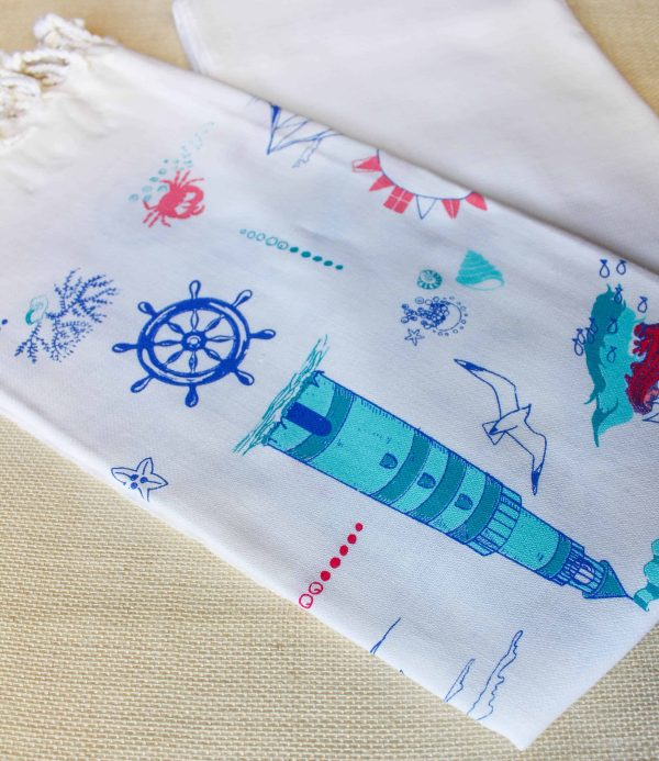 White Turkish Bath Towel Peshtemal - 100% Cotton