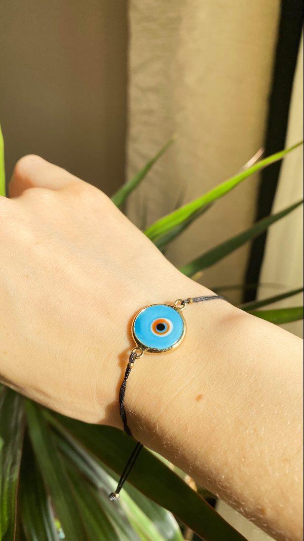Turquoise Evil Eye Golden Adjustable Bracelet